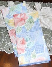 COUNTRY COTTAGE SET OF 2 FLOWER BASKET FABRIC NAPKINS & MATCHING TABLE RUNN