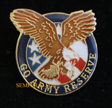 US ARMY RESERVE LAPEL HAT PIN UP USA FLAG AMERICAN EAGLE ANG VETERAN GIFT WOW