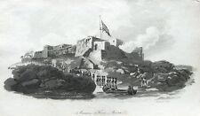 WEST AFRICA,GHANA, FORT JAMES,JAMESTOWN,ACCRA, Antique Aquatint  Print 1799