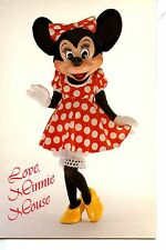 Love from Minnie Mouse-Polka Dot Dress-Disney Character-Modern Postcard