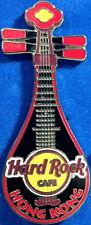 Hard Rock Cafe HONG KONG 2007 Black PIPA Guitar with RED Trim PIN - Like #36992