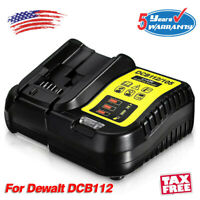 DCB112 12-20V Max Li-Ion Battery Charger for Dewalt DCB115 DCB204 DCB205 DCB107