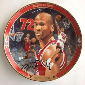 "Michael Jordan ""Record 72 Wins"" Collector's Plate Bradford Exchange Vintage"