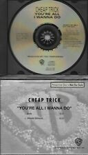 CHEAP TRICK  You're All I Wanna Do  2 versions  promo CD single