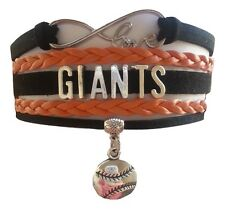 San Francisco SF Giants Baseball Infinity Bracelet Jewelry Apparel