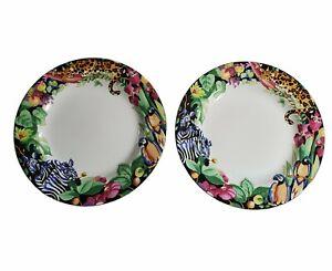 Vitromaster Sakura SUE ZIPKIN Rain Forest Salad Plates Set Of 2
