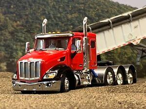 "1/64 DCP RED/BLACK PETERBILT 579 TRI AXLE W/ 44"" SLEEPER"