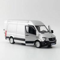 1:36 Sprinter Van Cargo Die Cast Modellauto Spielzeug Sammlung Grau Pull Back