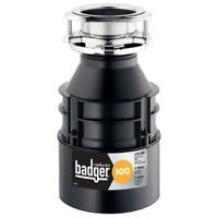 1/3 HP Continuous Feed Garbage Disposal Heavy Duty Kitchen Food Waste Disposer