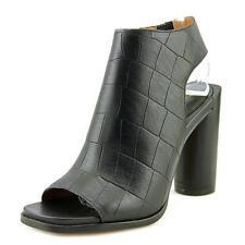 Sandalias y chanclas de mujer de color principal negro de piel talla 38.5