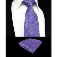 Cravatte e papillon da uomo viola in misto seta dal Regno Unito