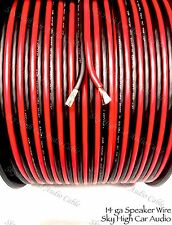 300' feet TRUE 14 Gauge AWG RED/BK Speaker Wire w/ SPOOL Car Home Audio ft
