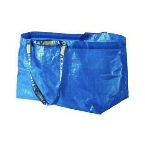 2 x IKEA FRAKTA Large Blue Reusable Carrier Bags Laundry StorageGarden
