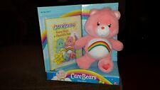 Play Along Care Bears Cheer Bear and Book Set Stuffed Plush 2004