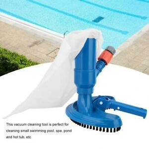 Portable Swimming Pool Spa Pond Fountain Cleaning Tool Vacuum Brush Cleaner New