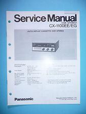 Service Manual-Istruzioni per Panasonic cx-1100, ORIGINALE