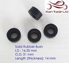 16.5x31x14mm PANEL LOCK RUBBER SHOCK ABSORBER MOUNT SLEEVE MOTORCYCLE (MCR-404a)