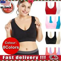 Womens Sports Casual Bra Seamless High-elastic Running Underwear Plus Size S-6XL