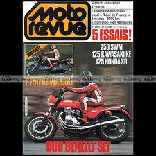MOTO REVUE 2455 BENELLI 900 SEI KAWASAKI Z 750 E KE 125 SWM 240 HONDA XR 1980