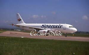 Spanair Airbus A320-232 EC-HRP, 5.01, Colour Slide, Aviation Aircraft