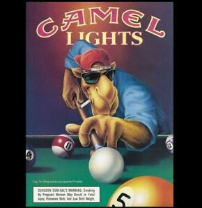 Joe Camel Cigarettes Ad PHOTO Joe Camel Lights Bar Sign Pool Hall Table