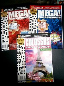 3 Lovatts Crossword Puzzle Books Colossus & Mega (new) 2020