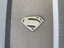 SUPERMAN Comic Book Logo 1 Pewter Pocket Coin or Craft Shops Glue On.