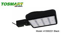 LED Parking Lot Shoebox Pole Light Black 300 Watt Industrial Security Fixture