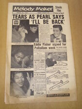 MELODY MAKER 1957 MARCH 23 PEARL BAILEY EDDIE FISHER ROSEMARY CLOONEY JAZZ SWING