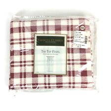 Croscill Classics Tab Top Curtain Panel 41 X 84 Country Plaid Cranberry Unlined