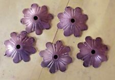 5 Ancienne Rosace feuille pour Pampilles Tendance deco rétro marguerite fleur