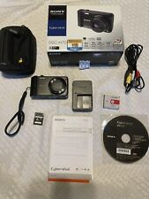 Complete Sony Cyber-shot DSC-H70 16.1MP Digital Camera w/Box + Case + memory