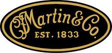 "#4562 (1) 3.75"" Martin Guitar Company Decal Sticker Laminated"