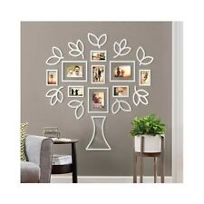 Family Tree Picture Frame Set For Walls Photo Collage Frames 4x6 5x7 Gift White