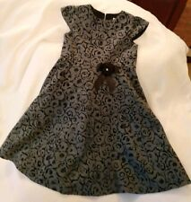 Lovely Sarah Louise Girls Winter Dress 5 Years Black And Grey.