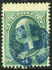 Scott 184 Used 3c Washington Blue Cross of Lorraine Fancy Cancel Stamp 12021124