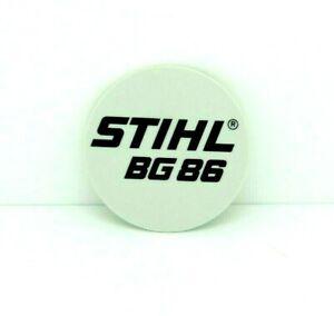Modelo Placa Para STIHL BG86 Soplador / Vac. Original Pieza 4241 967 1504