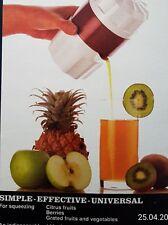 Saftpresse Orangenpresse Entsafter Handpresse Zitruspresse --  mit Behälter