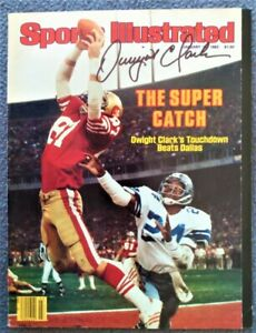 DWIGHT CLARK Autographed Sports Illustrated Magazine Cover - January 16, 1982