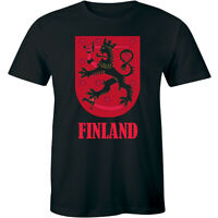 Finland with Image Short Sleeve T-Shirt for Men