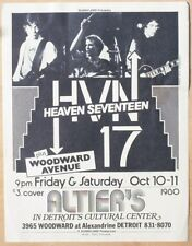 Vintage handbill - Heaven 17 Human League at Altier's 1980 - Gary Grimshaw