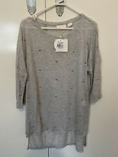 sass and bide silver haze long sleeve T-shirt Xs NEW WITH TAGS