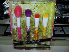 New Limited Edition Sonia Kashuk Brush Couture Brush Set - 4 piece Floral