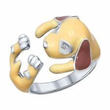 Ring Silber 925 Sterling Silber Damen Echtschmuck Gr.56 Emaille NEU Sokolov