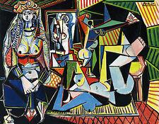 """Mujeres de Argel arte por Pablo Picasso. reproducción. Impresión sobre Lienzo 20""""x 26"""""""