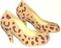 Vivienne Westwood Melissa Leopard Print Animal Toe Flock Shoe - New With Box