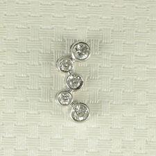 Unique and Beautiful Design Diamonds Pendant Charm; 18k White Solid Gold TPJ