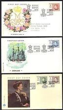 Greenland 1973 1978 Queen Margaret Ii Seven Covers Different Cachets