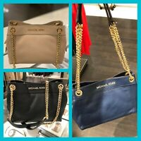 Michael Kors Small Medium Leather Messenger Shoulder Handbag Bag Purse Tote Blue