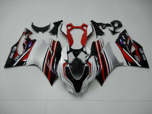 Cowling Kit Fairing Bodywork Kits work for Ducati 1199 Panigale 12-15 white red